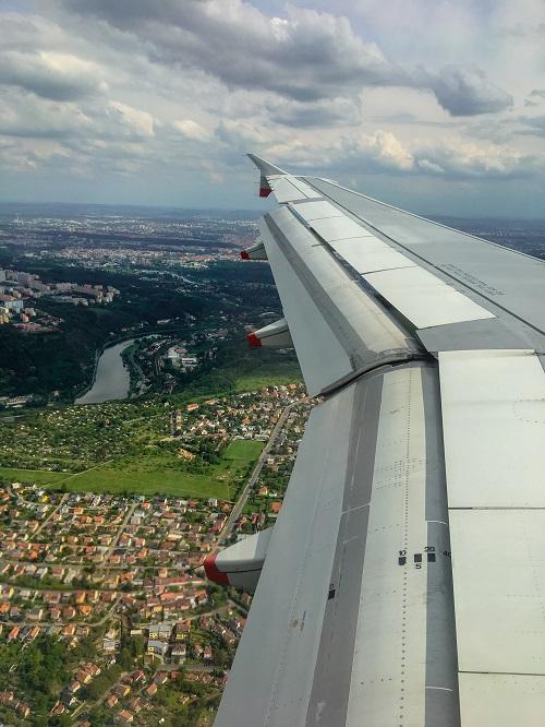 Flying into Prague-2