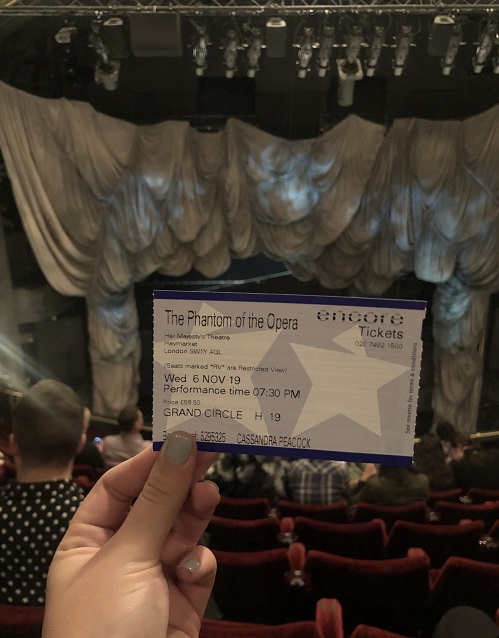 LHR Fall19 LRossman Phantom of the Opera Ticket