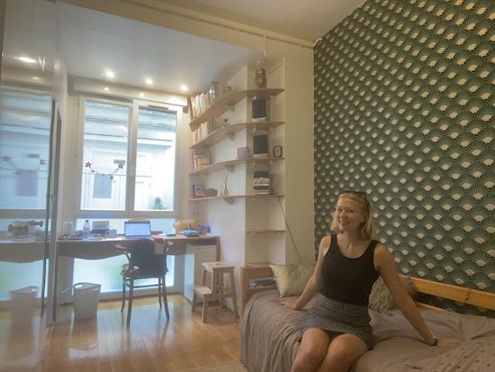 Sophia in her Homestay Room