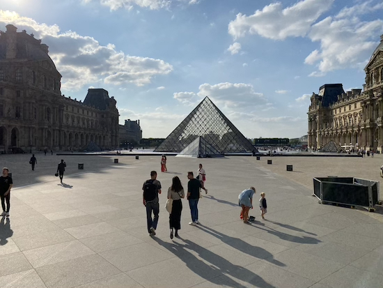 Three Friends of Sophia's (Center) at the Louvre