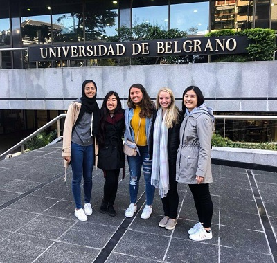 Our first day at the University of Belgrano